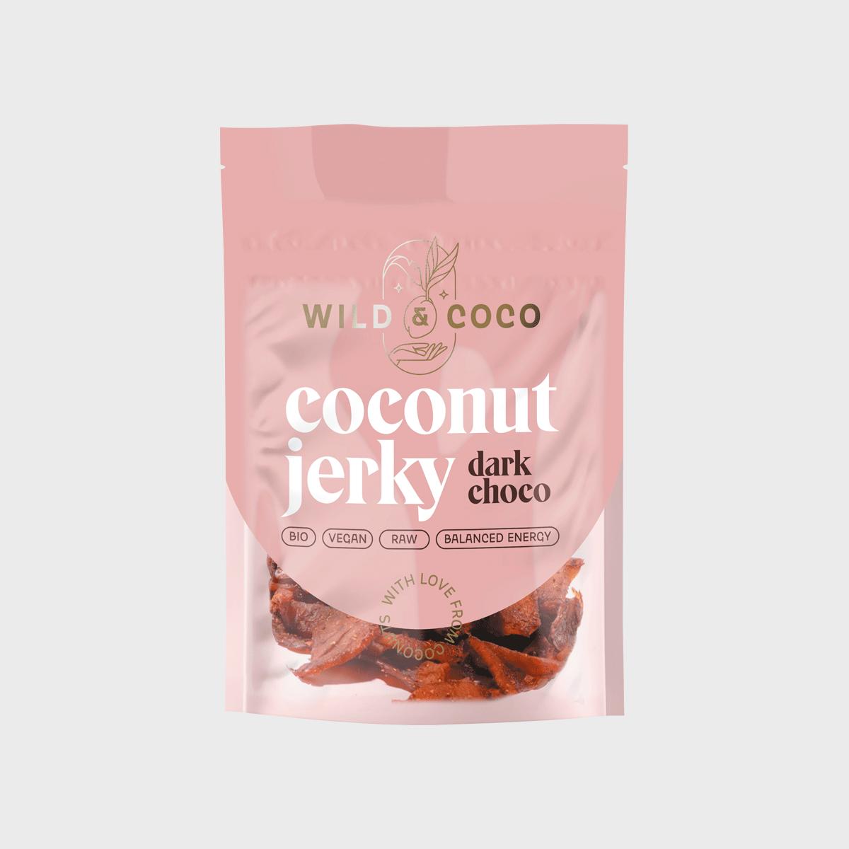 Levně Kokosové jerky dark choco